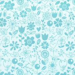 Riley Blake - Sunny Happy Skies - Floral Blue