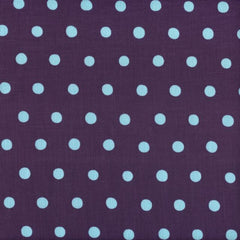 Echino Dots - Aqua on Purple (remnant)
