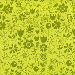 Riley Blake - Sunny Happy Skies - Floral Green