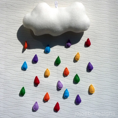 Jojoebi Designs - Rainbow Drops Mobile and Cushion Pattern
