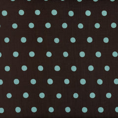 Echino Dots - Aqua on Brown (remnant)