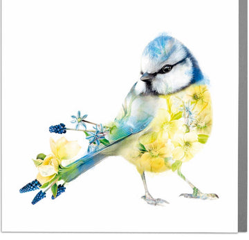 Blue Tit Bird Card