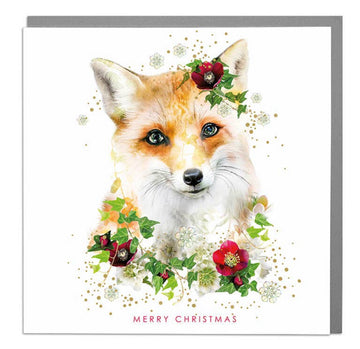 Fox Merry Christmas Card