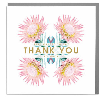 Thank You Botanical Flower Card