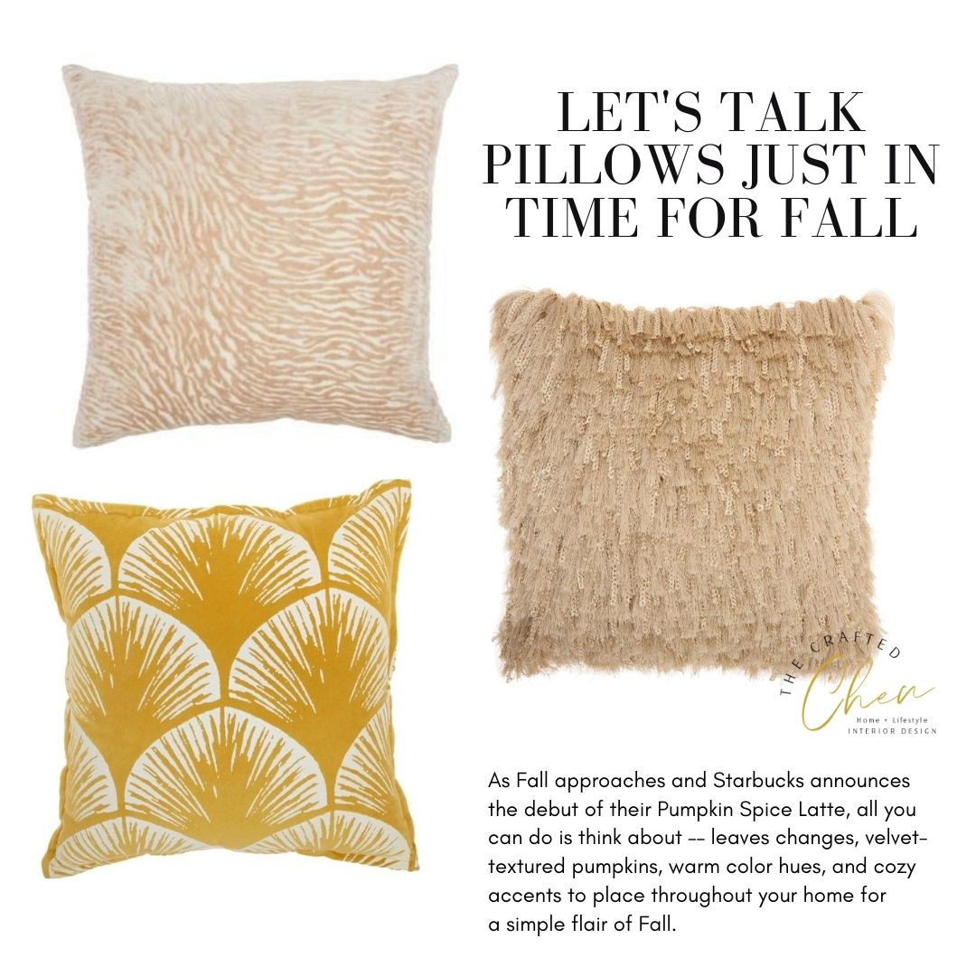 Let's Talk Pillows Just In Time for Fall
