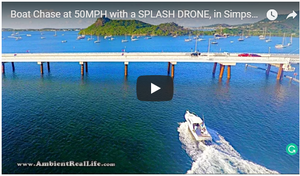 BOAT CHASE FILMED WITH SPLASH DRONE