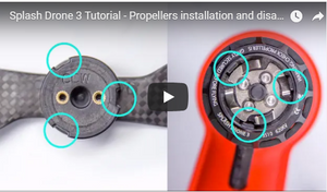 Swellpro Splash Drone 3 Tutorial- Propellers Installation and Disassembly