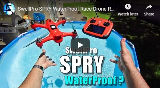 Spry Waterproof Race Drone Tested on Water