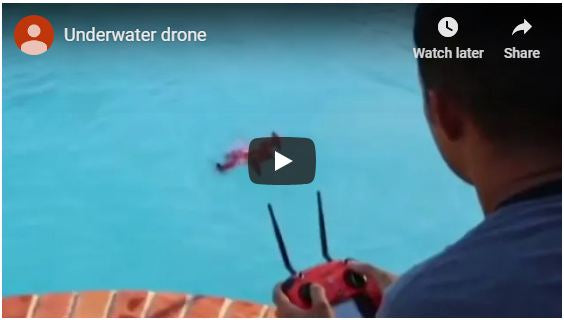Spry Drone briefly submerges underwater, float on water and flies in the air