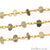Lemon Topaz Beads 5-6mm Gold Wire Wrapped Rosary Chain - GemMartUSA