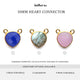 Heart 10mm Gemstone Cat Bail Gold Bezel Connector