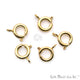 5pc Lot Gold Pendant Clasp, Pendant Hook, Pendant Lock