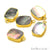 Abalone 12x16mm Octagon Shape Gold Electroplated Single Bail Gemstone Connector