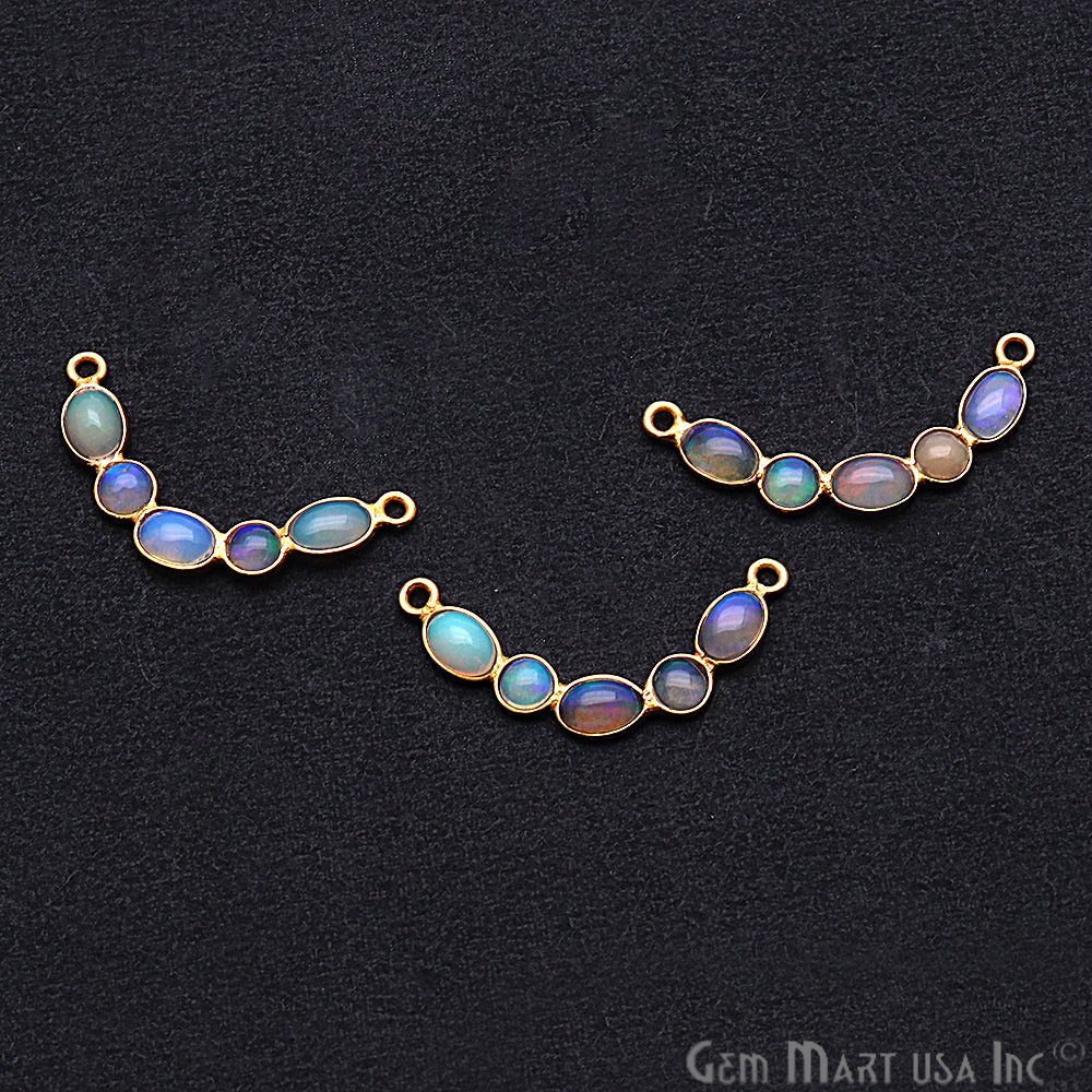 DIY Opal October Birthstone 28x5mm Chandelier Finding Component (Pick Your Plating) (13090)