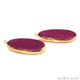 Agate Slice 35x17mmOrganicGold Electroplated Gemstone Earring Connector 1 Pair