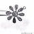 Flower Shape Oxidized 22x19mm Charm For Bracelets & Pendants - GemMartUSA