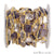 Amethyst & Crystal Gold Plated 15mm Fancy Cut Continuous Connector Chain - GemMartUSA