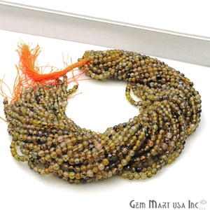 Bio Lemon Jade 4mm Faceted Rondelle Beads Strands 14Inch