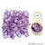 100 Cts Mix Amethyst Stones 10-15mm Faceted Precious Loose Gemstones
