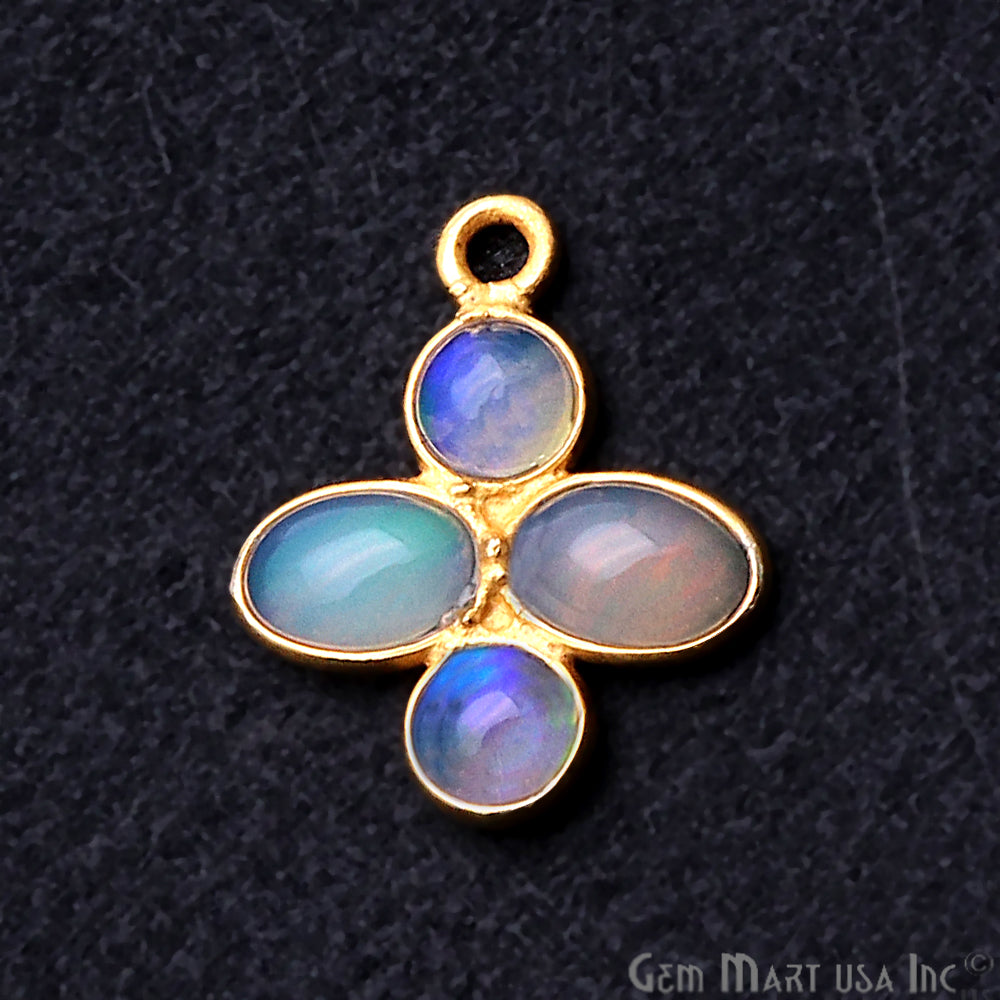 DIY Opal October Birthstone 16x13mm Chandelier Finding Component (Pick Your Plating) (13096)
