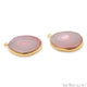 Agate Slice 27x22mmOrganicGold Electroplated Gemstone Earring Connector 1 Pair