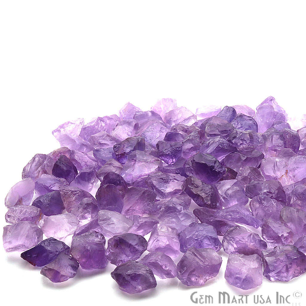 3.53oz Lot Rough Tiny Amethyst Loose Birth Gemstone