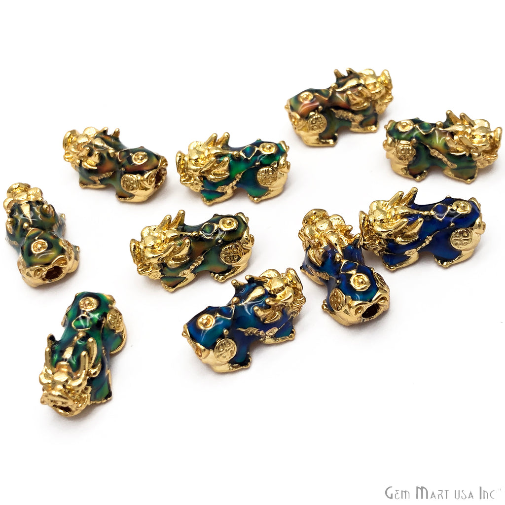 Dragon Shape Color Changing Gold Edge Beads