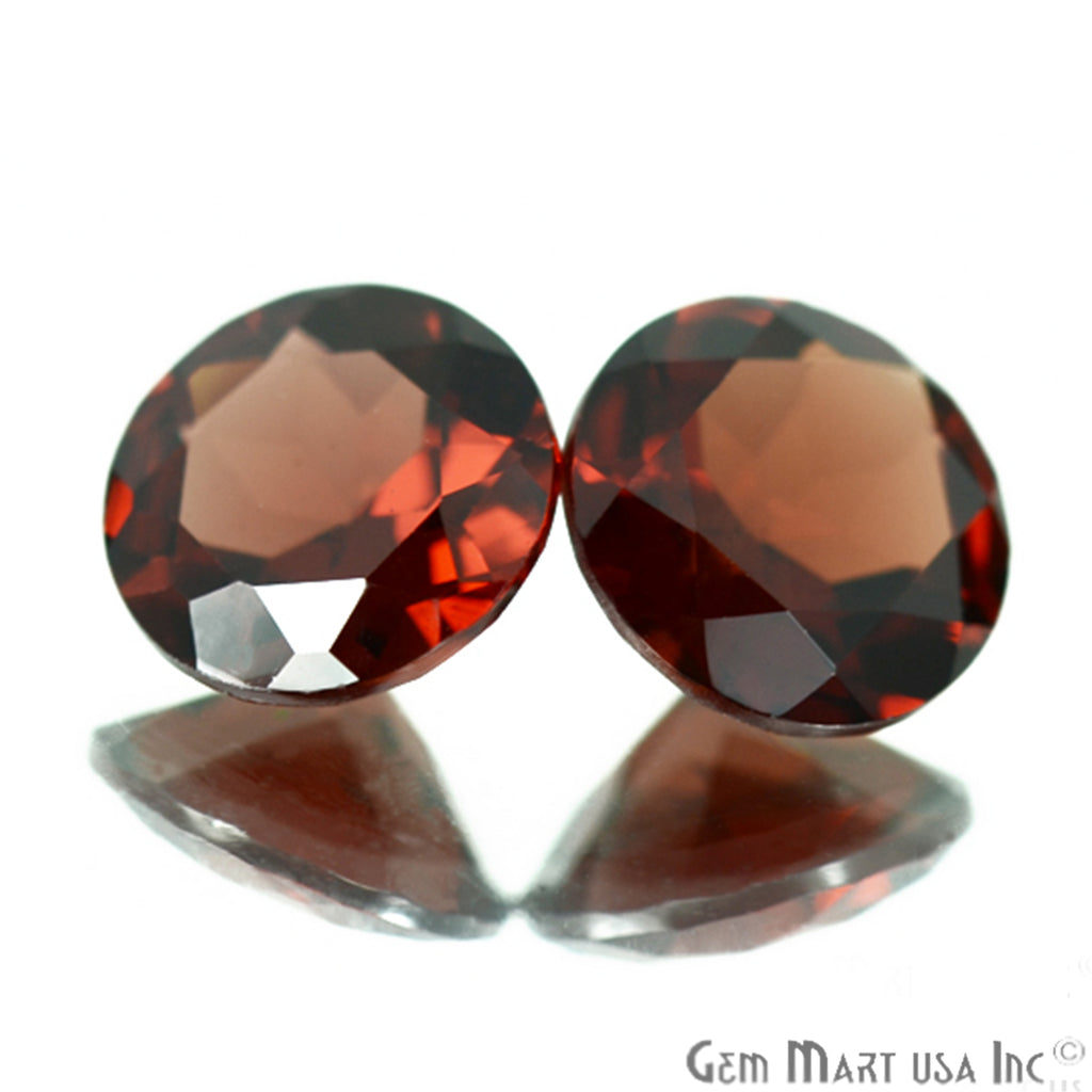 2 Pcs Of Natural Red Garnet Round 8mm AA+ Quality, Amazing Luster, Red Garnet (GT-80030)