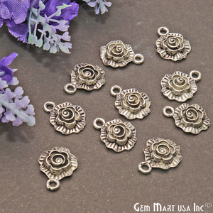 Flower Shape Finding 15x12mm Chandelier Jewelry Charm (Pick Plating)