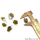 Rough Peridot Gemstone 16x10mm Organic Silver Edged Connector - GemMartUSA