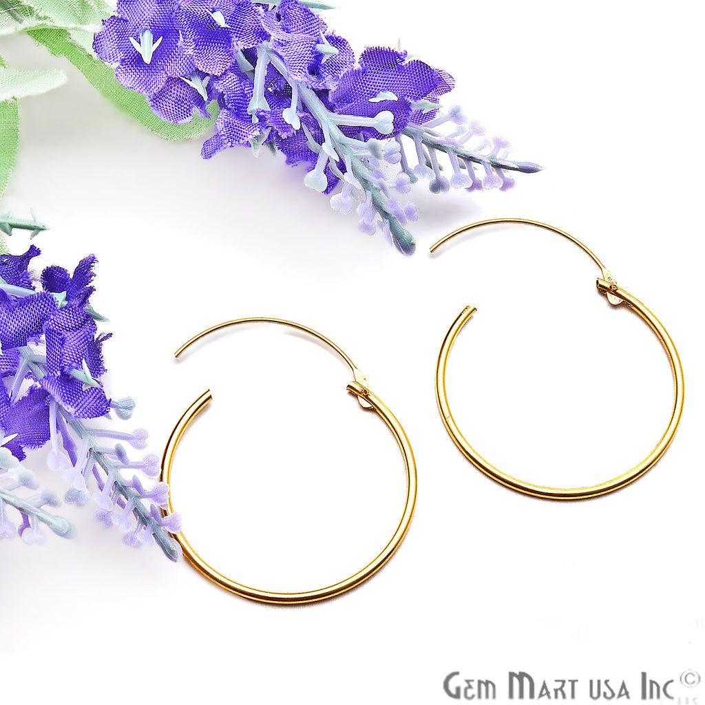 DIY Gold Plated Wire Finding Hoop Earring (Pick Hoop Size)