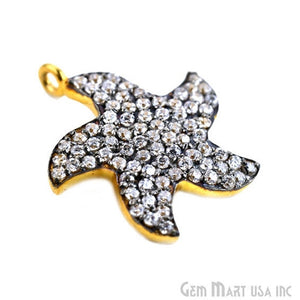 'Star' CZ Pave Gold Vermeil Charm for Bracelet & Pendants