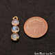 Rainbow Moonstone 22x6mm Prong Setting Gold Plated Component Connector - GemMartUSA