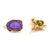 DIY Geode Druzy 24x13mm Gold Electroplated Loop Connector Studs Earrings
