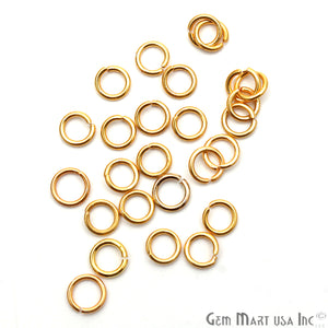10pc Lot Open Jump Rings 6mm Gold Plated Finding Jewelry Charm