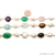 Multi-Color & Mix Shape Gemstone With Freeform Pearl Beads 10-15mm Gold Bezel Faceted Continuous Connector Chains