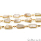 Golden Rutiliated Bezel 10-15mm Gold Plated Continuous Connector Chain - GemMartUSA