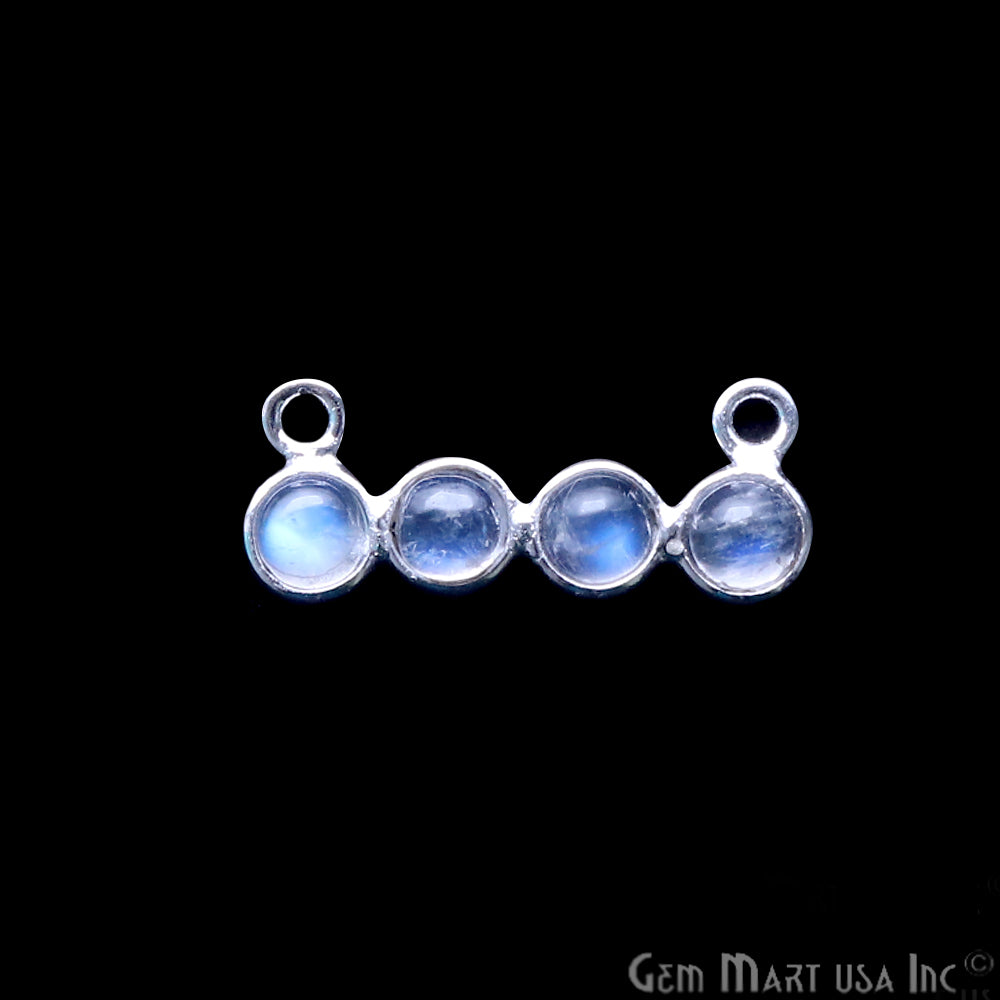 DIY Rainbow Moonstone 20x8mm Double Bail Chandelier Finding Component (Pick Your Metal)
