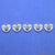 5pc Lot Heart Shape Oxidized 14mm Charm For Bracelets & Pendants - GemMartUSA