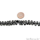 Black Spinel Briolette Faceted Gemstone 8x6mm Rondelle Beads - GemMartUSA