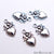 5pc Lot Heart Shape Oxidized 18x11mm Charm For Bracelets & Pendants - GemMartUSA