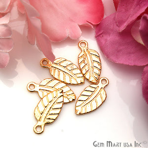 5 Pc Lot Leaf Finding, Gold Finding, Filigree Findings, Jewelry Findings, 18x8mm (GP-50064)