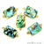 Abalone 13x18mm Octagon Shape Gold Electroplated Double Bail Gemstone Connector - GemMartUSA