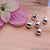 5pc Lot Bead Finding 8mm Round Ball Jewelry Making Charm (Pick Your Plating) - GemMartUSA