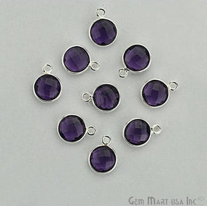 Round 8mm Single Bail Silver Plated Gemstone Connectors (Pick your Lot Size) - GemMartUSA