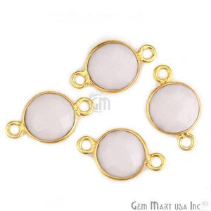 Round 8mm Gold Plated Double Bail Gemstone Connectors (Pick Your Lot Size) - GemMartUSA