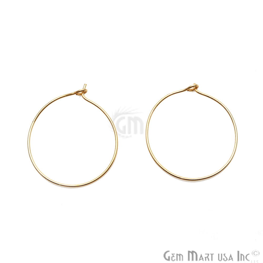 DIY Gold Plated Wire Finding Hoop Earring