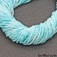 shaded aquamarine rondelle beads