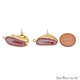 DIY Agate Slice Geode Druzy 28x16mm Gold Electroplated Loop Connector Studs Earrings - GemMartUSA