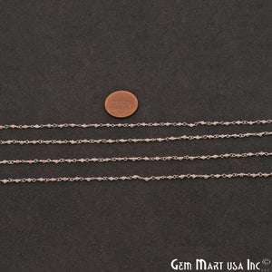 Strawbwerry Quartz 1mm Silver Wire Wrapped Beads Rosary Chains - GemMartUSA